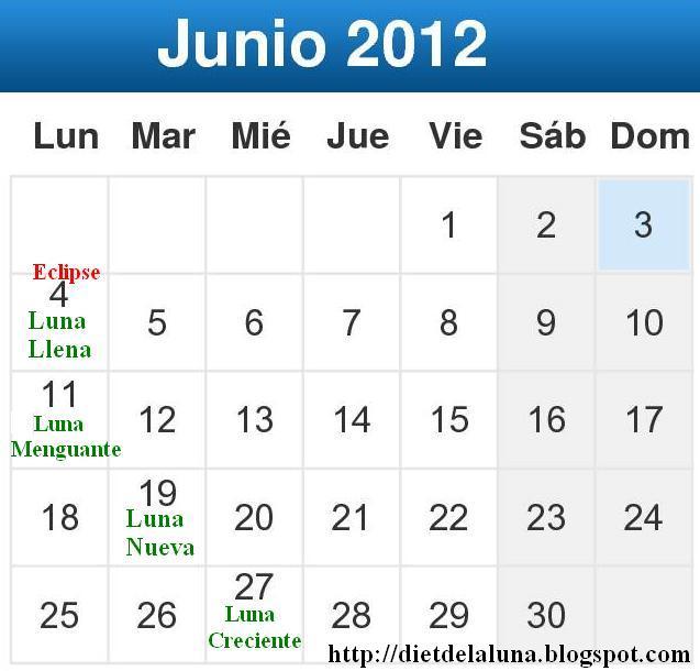 La dieta de la luna 2018 calendario lunar 2012 junio for Calendario lunar junio
