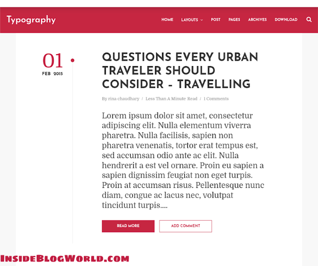 Typography Blogger Template