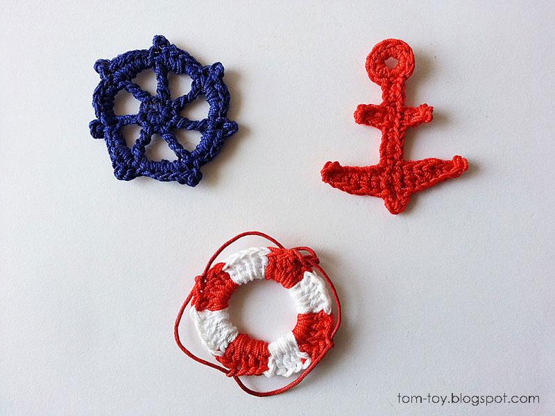 Tomtoy crochet nautical applique
