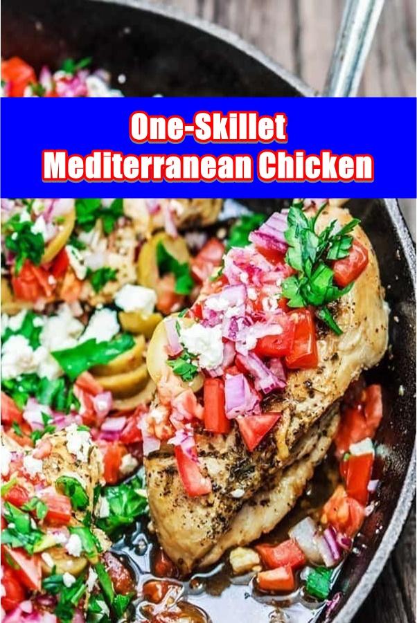 #One-Skillet #Mediterranean #Chicken