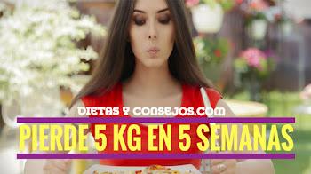 PIERDE 5 KILOS DE PESO EN 5 SEMANAS