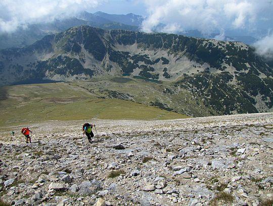 Jesteśmy już wysoko ponad doliną Jezior Vlakhini.