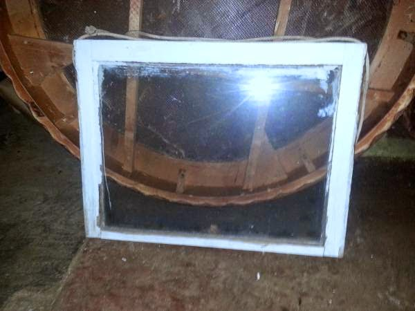 Old Wood Window - chippy white paint (OKC Craigslist ) $25
