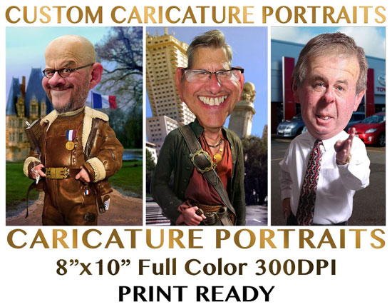 Rodney Pike Humorous Illustrator Portrait Commissions