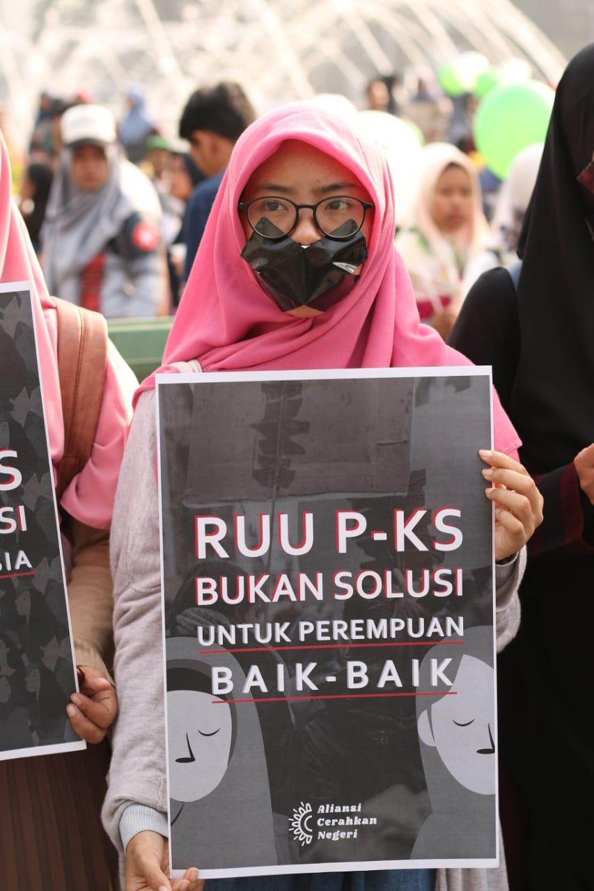 Tak Kenal Lelah, Aliansi Cerahkan Negeri Tegas Menolak RUU P-KS