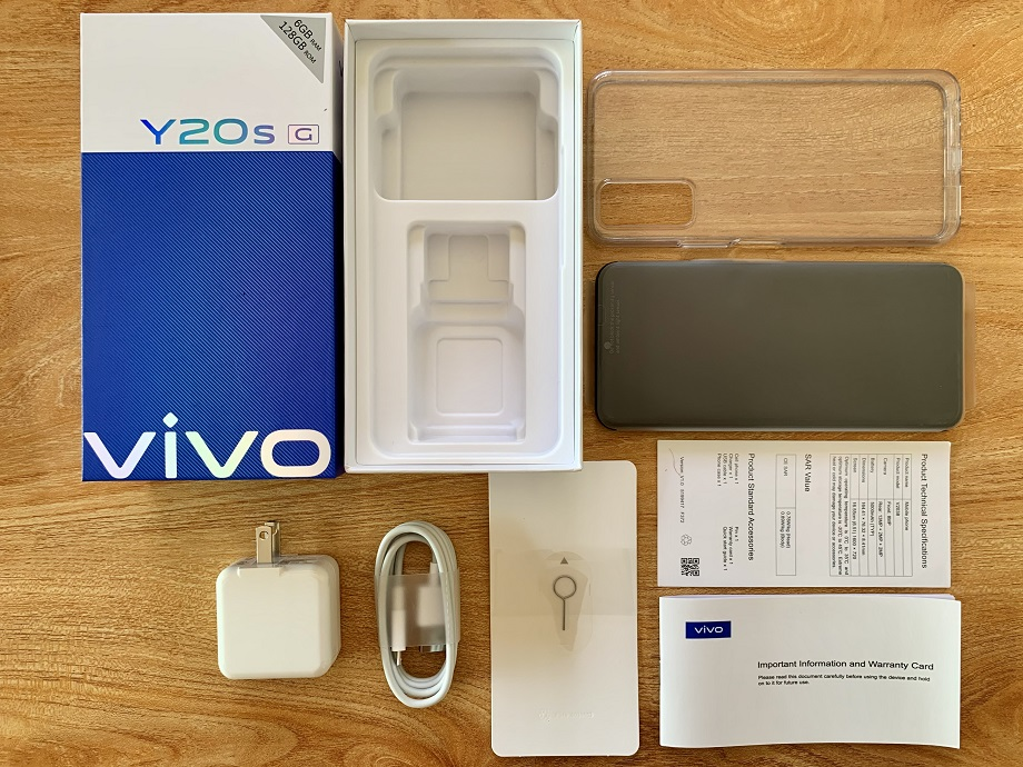 vivo Y20s (G): What's in the Box?