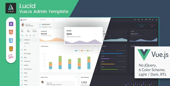 Best Vue.js Admin Dashboard Template