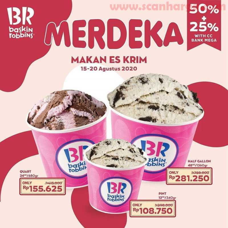 Baskin Robbins Promo Merdeka Makan Es Krim Diskon 50 20 Pakai Kartu Kredit Bank Mega Scanharga