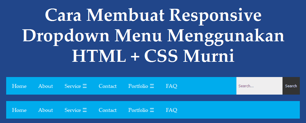 html css responsive dropdown menu