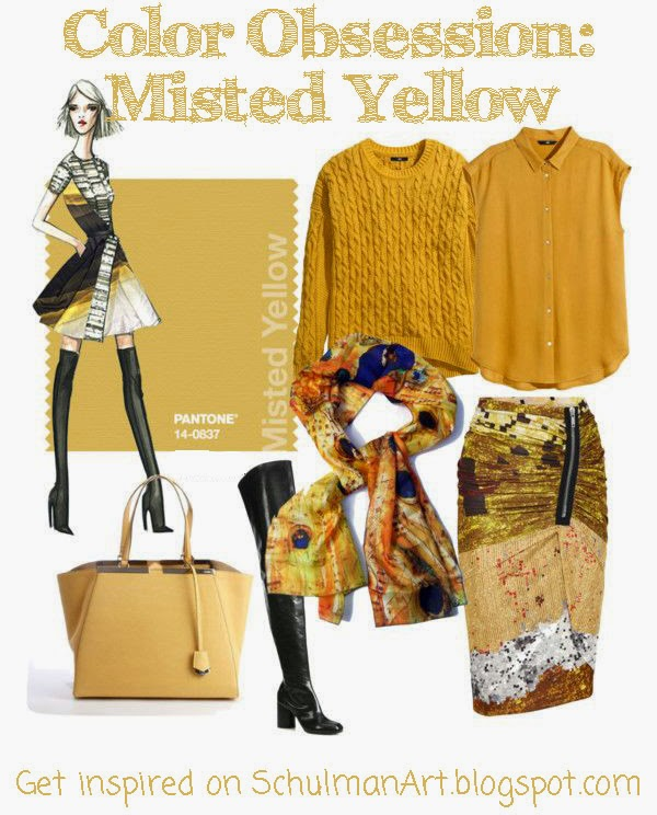 yellow fashion trends | fall 2014 fashion trends | discover color trends on http://schulmanart.blogspot.com/2014/09/fall-color-trend-watch-misted-yellow.html