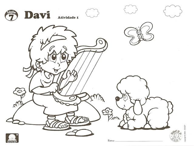 Desde mi rincón de religión: El rey David -colorear-