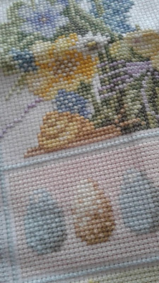 Spring Cross Stitch Close Up