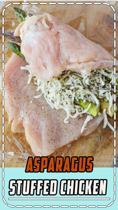 Asparagus Stuffed Chicken a fast and easy chicken breast recipe that will knock your socks off. Roll out your chicken and stuff with melty cheese and perfect asparagus spears to create an under 30 minute recipe that you can enjoy any night of the week