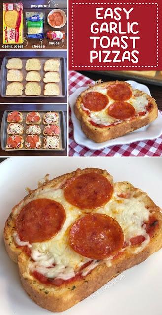 Yummy Mini Garlic Toast Pizzas