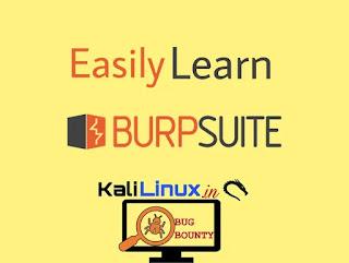 burpsuite in Kali Linux