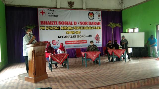 Peduli Terhadap Sesama Anggota Koramil Wonosari Donorkan Darahnya
