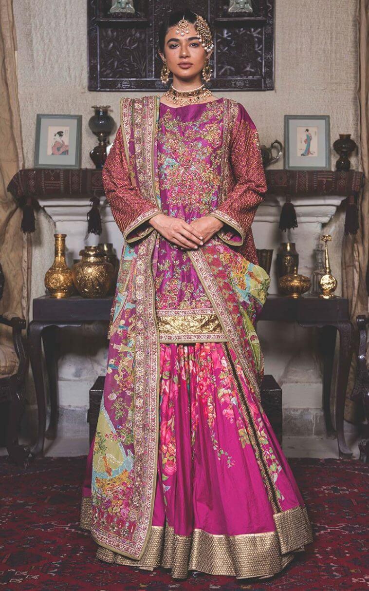 Fahad Hussayn Bridal Gharara for Mehndi