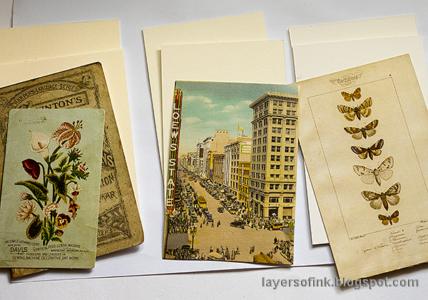 Layers of ink - Quick DIY Notebooks Tutorial by Anna-Karin Evaldsson. With Tim Holtz Layer Remnants.
