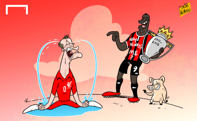 Balotelli laughs on Carragher