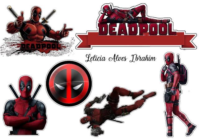 Deadpool: Toppers para Tartas, Tortas, Pasteles, Bizcochos o Cakes para Imprimir Gratis.