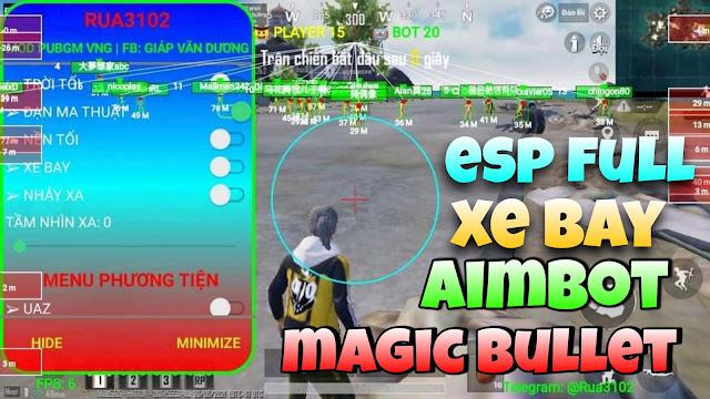 Hack esp pubg 1.4.0 | auto headshot _ aimbot _ magic bullet _ wall hack _ esp full