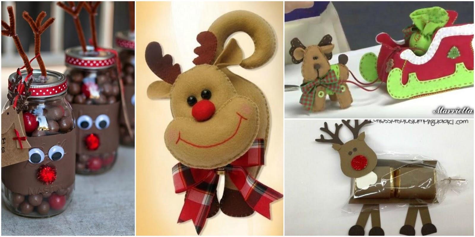 8 Ideas espectaculares con moldes para hacer renos navideos