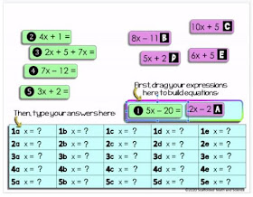 Solving Equations Mix Match Activity - print & GOOGLE Slides
