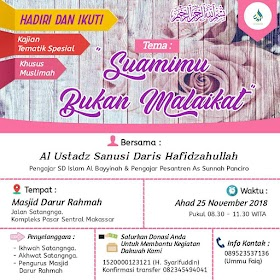 Download [Audio] Rekaman Ceramah Suamimu Bukan Malaikat Oleh Ustadz Sanusi Daris