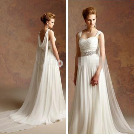 Hot sale goddess bridal gowns discount bridal and prom ideas for Goddess inspired wedding dresses