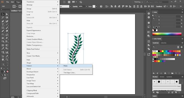 Pattern Brush in Adobe Illustrator