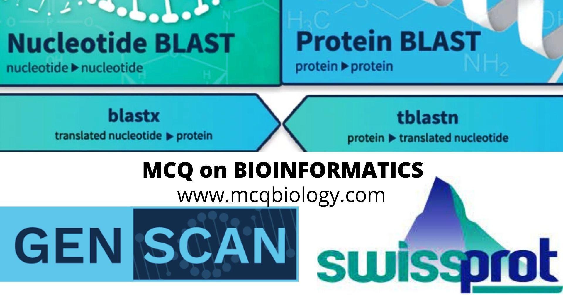 Bioinformatics Software and Program MCQ