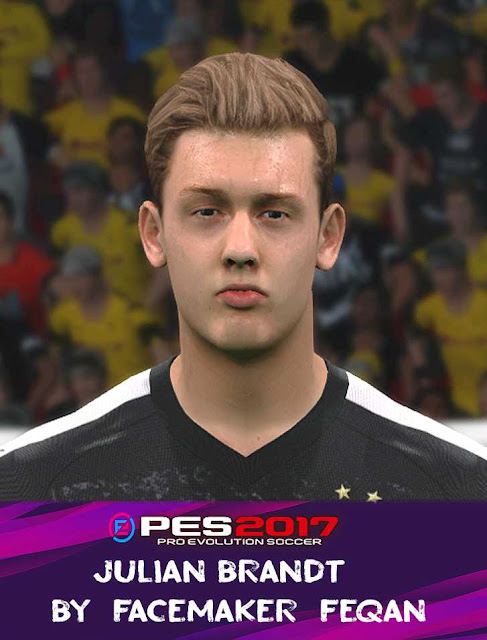 PES 2017 Julian Brandt Face by Feqan