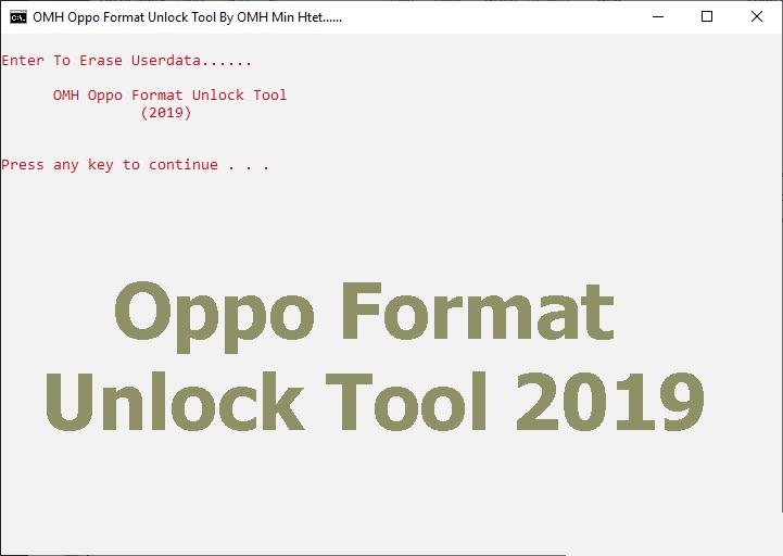 Oppo Format Unlock Tool 2019
