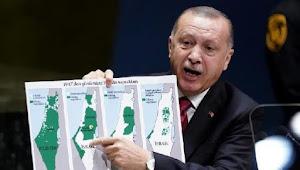 Tunjukkan Peta Palestina di Sidang PBB, Erdogan: di mana Israel Tahun 1947?