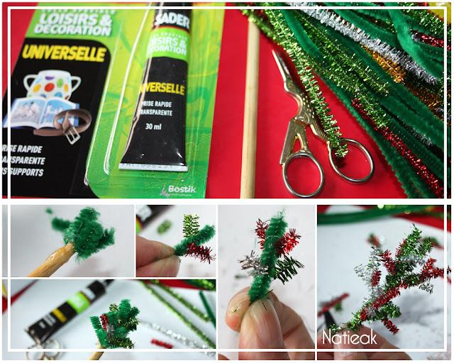 création d'un mini sapin de Noël