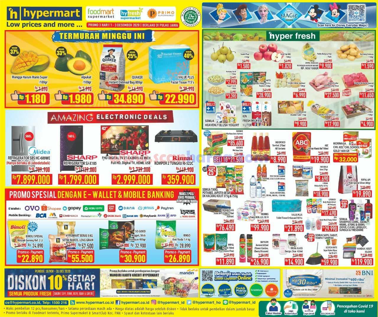 Katalog Promo Hypermart Weekday Terbaru 1 - 3 Desember 2020