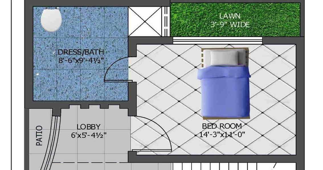 Modren Plan 5 Marla House Plan 1200 Sq Ft 25x45 Feet