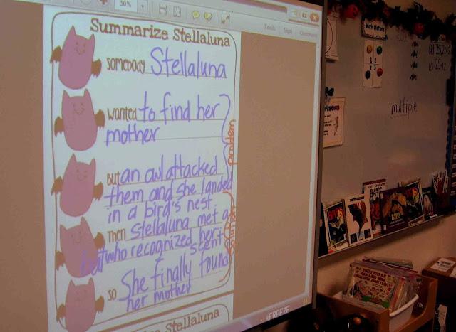 Free Stellaluna summarizing page.
