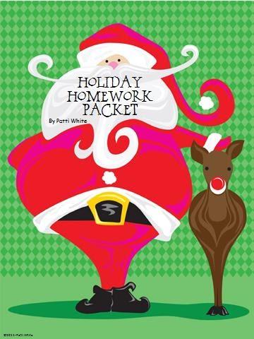 classroom freebies holiday homework packet freeblie. Black Bedroom Furniture Sets. Home Design Ideas