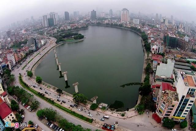 Hồ hoàng cầu gần dự án Mon Central