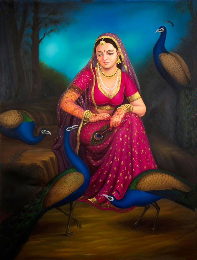 Alwar Girl Wallpaper 22 Most Beautiful Indian Oil Paintings Fine Art And You