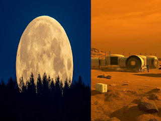 The moon is sprinkled with patches of frozen water,  scientists discovered. Mining it may be crucial for travel to Mars .