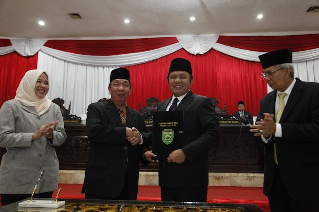 Gubernur dan Pimpinan DPRD Sumsel Tanda Tangani Keputusan Bersama