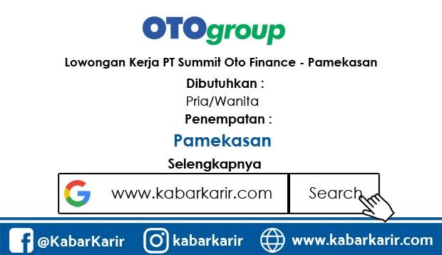Lowongan Kerja PT Summit Oto Finance - Pamekasan