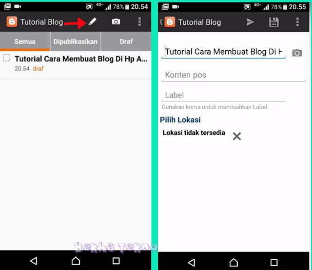 Tutorial Lengkap Cara Membuat Blog Sendiri Di Hp Android Dengan Mudah Lengkap Dengan Gambar