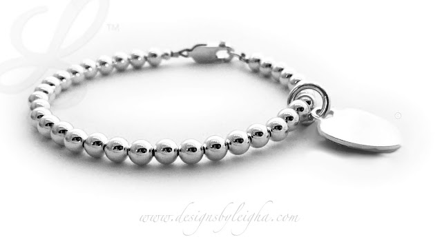 Tiffany Inspired Heart Charm Bracelet (.925 sterling silver)