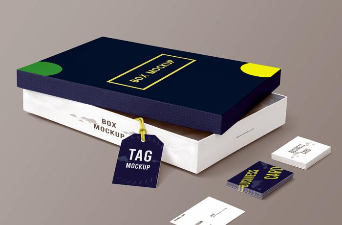 Box Packaging Mockup Template