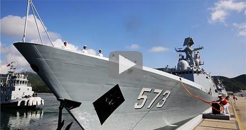china warship to Pakistan