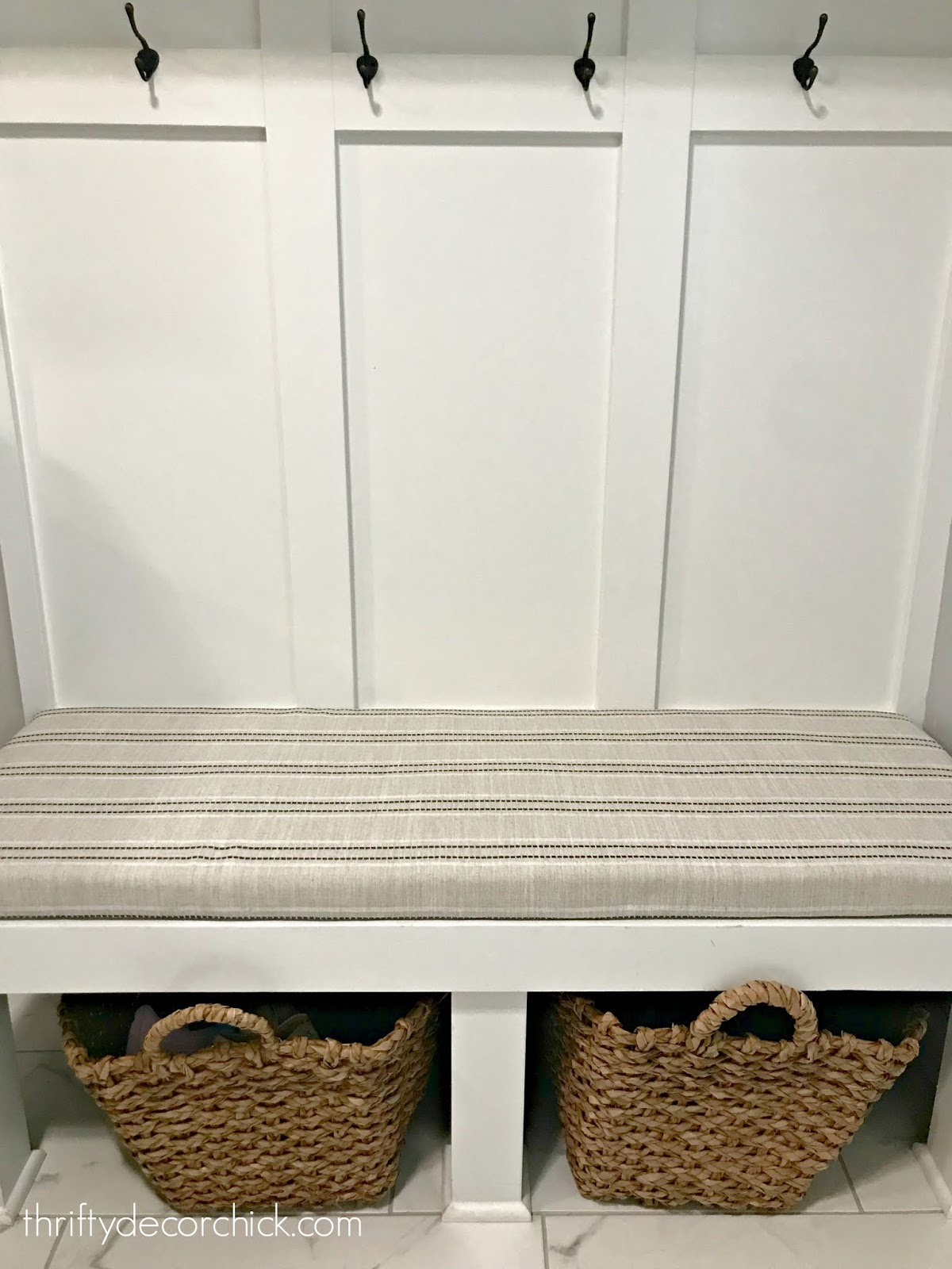 DIY no sew bench seat