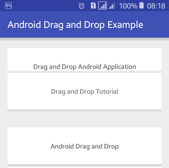 Drag and Drop Android Example | Viral Android – Tutorials